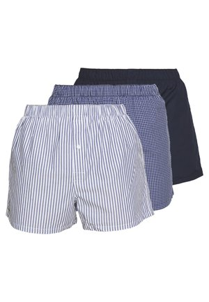 3Pack - Trenýrky - navy blue/white-tropical