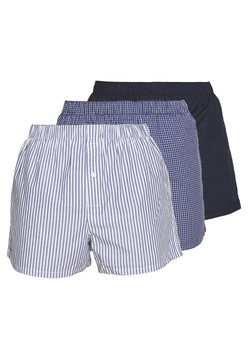 Lacoste - 3Pack - Boxer shorts - navy blue/white-tropical