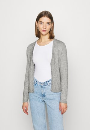 ONLLESLY V NECK BUTTON - Cardigan - medium grey melange