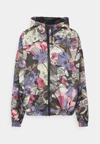 Nike Sportswear - FEMME - Summer jacket - ironstone/black/metallic gold - 0