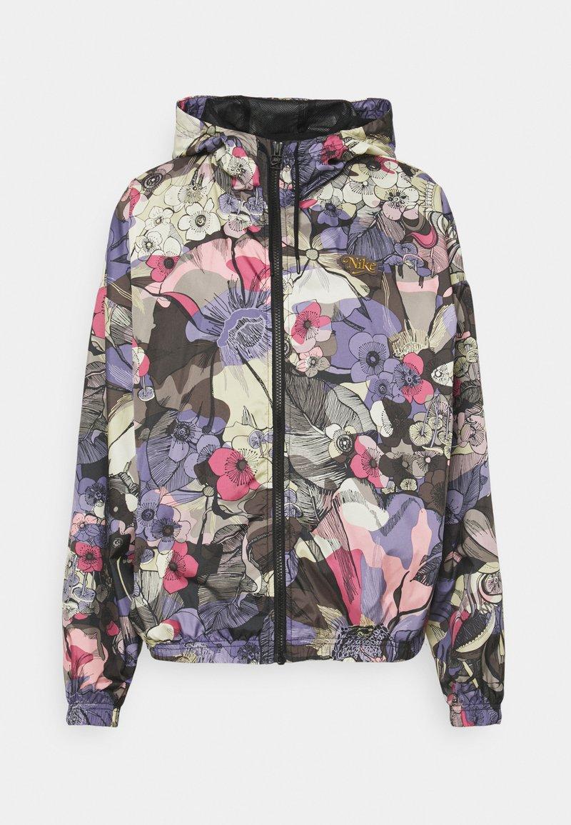 Nike Sportswear - FEMME - Summer jacket - ironstone/black/metallic gold