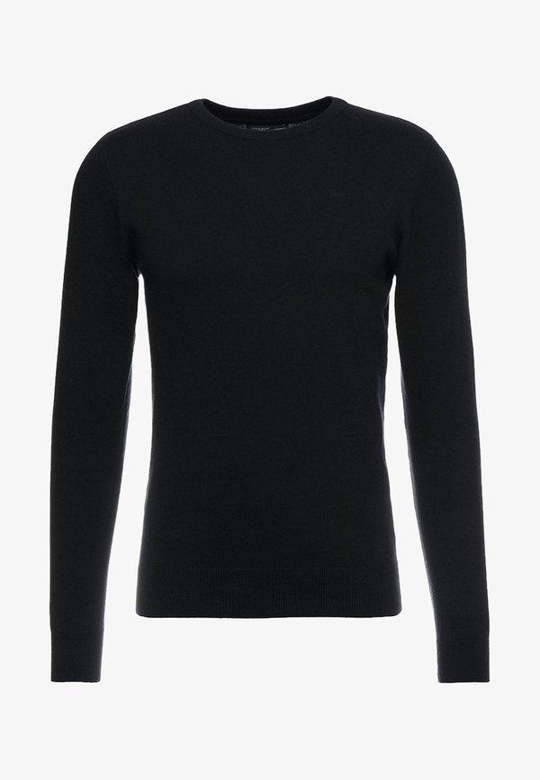 Petrol Industries RUNDHALS - Sweter - black/czarny Odzież Męska OWVC