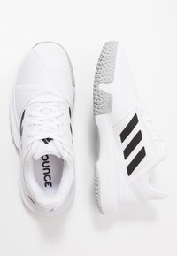 adidas Performance - COURTJAM BOUNCE - Multicourt tennis shoes - footwear white/core black/metallic silver - 1