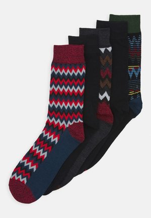 JACWINTER ALL PATTERN SOCKS 5 PACK - Calcetines - black