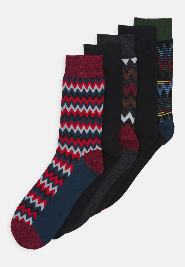 JACWINTER ALL PATTERN SOCKS 5 PACK - Sokken - black