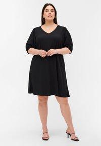 Zizzi - Jersey dress - black - 1