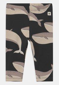 Lindex - WHALE UNISEX - Leggings - Trousers - off black - 0