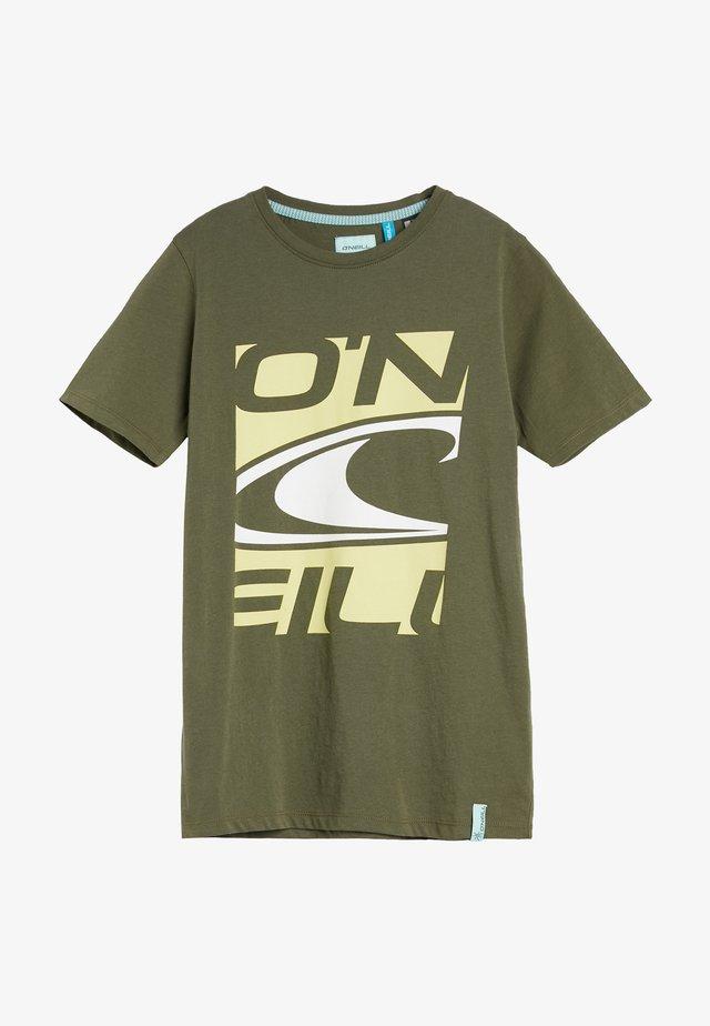 T-shirt print - olive leaves