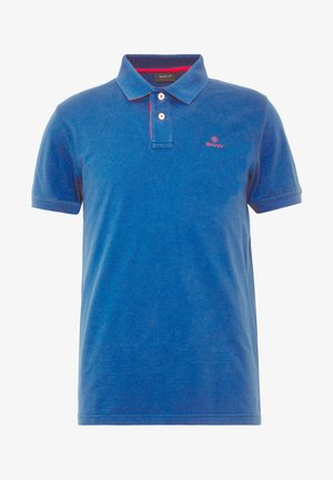 CONTRAST COLLAR RUGGER - Koszulka polo - nautical blue