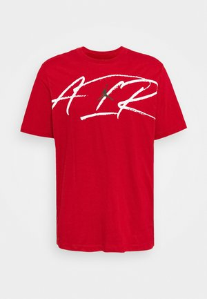 SCRIPT AIR CREW - T-shirt med print - gym red/white/black