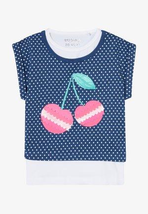 2-IN-1 KID - T-shirt con stampa - dark blue melange