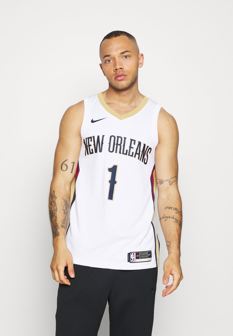 Nike Performance - NBA NEW ORLEANS PELICANS ZION WILIAMSON SWINGMAN - Article de supporter - white/club gold