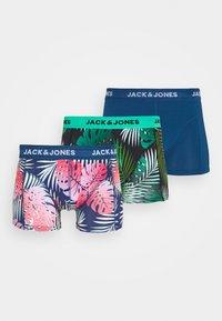 Jack & Jones - JACPLANTS TRUNKS 3 PACK - Shorty - ensign blue/green - 5