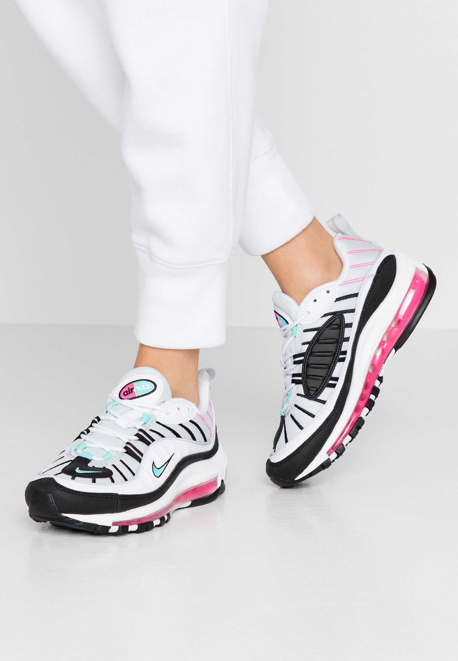 AIR MAX 98 - Sneakers laag - pure platinum/aurora green/black/pink  blast/white