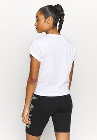 DKNY - EXPLODED LOGO BOXY TEE - Print T-shirt - white - 2