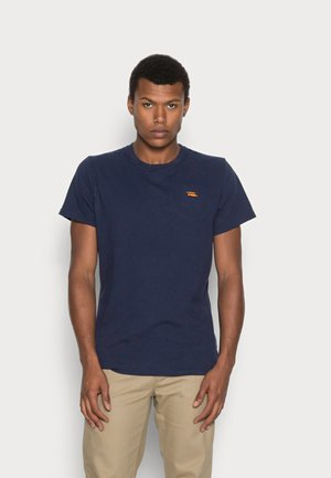 REGULAR EMBROIDERED - Basic T-shirt - navy mel
