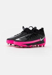 Nike Performance - JR PHANTOM GT ACADEMY DYNAMIC FIT MG UNISEX - Moulded stud football boots - black/metallic silver/pink blast - 1