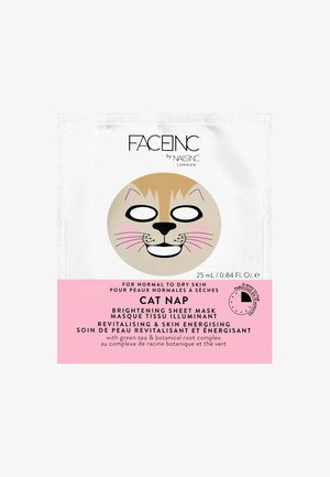 FACE INC CAT NAP SHEET MASK BRIGHTENING 25ML - Gesichtsmaske - 9119 neutral