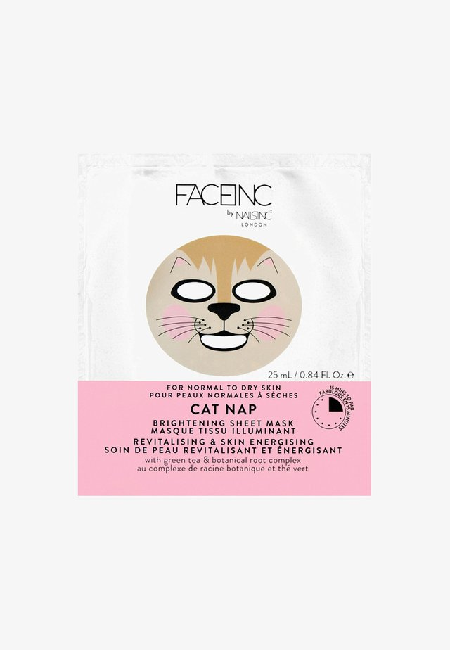 FACE INC CAT NAP SHEET MASK BRIGHTENING 25ML - Masque visage - 9119 neutral