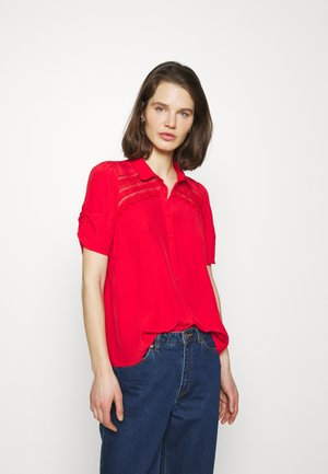 HAMA - Button-down blouse - lipstick