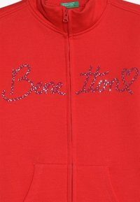 Benetton - JACKET - Mikina na zip - red