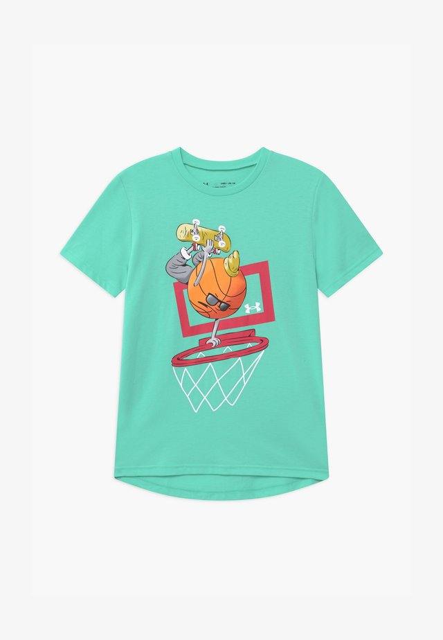 BASKETBALL  - T-shirt con stampa - comet green