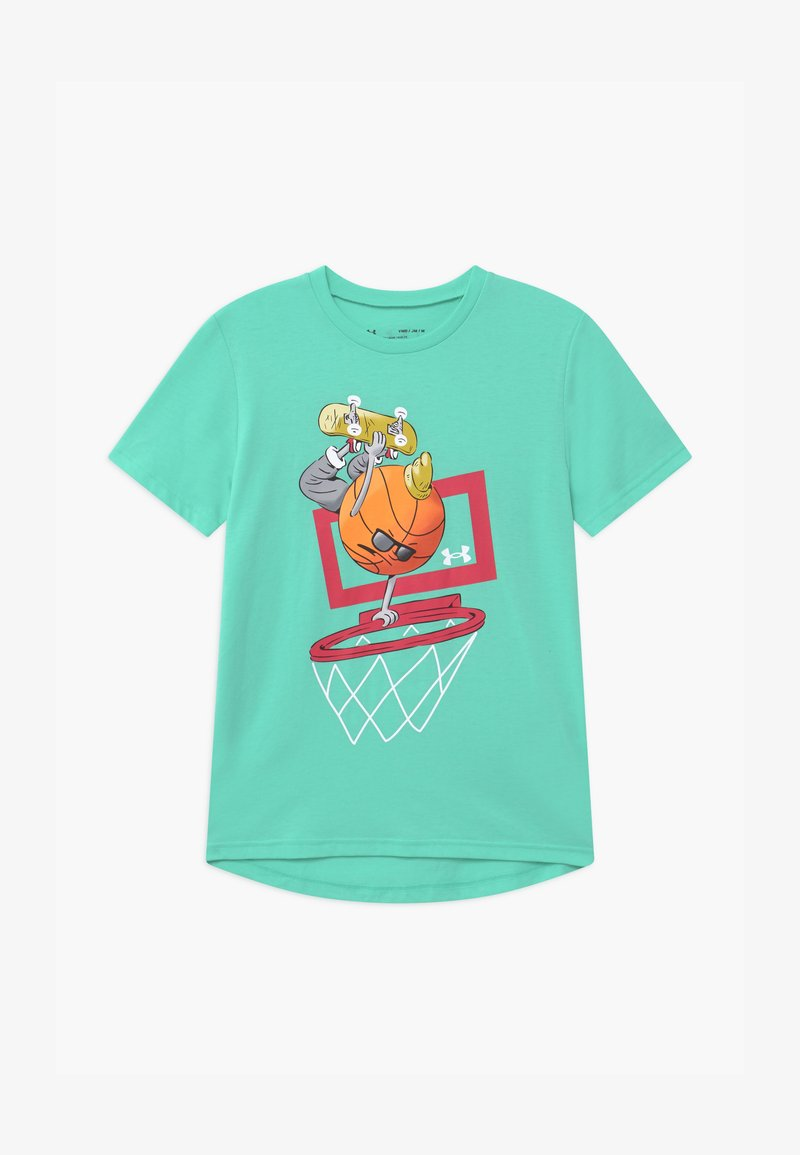 Under Armour - BASKETBALL  - Print T-shirt - comet green