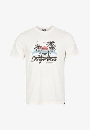 CALIFORNIA BEACH - T-shirt med print - egret