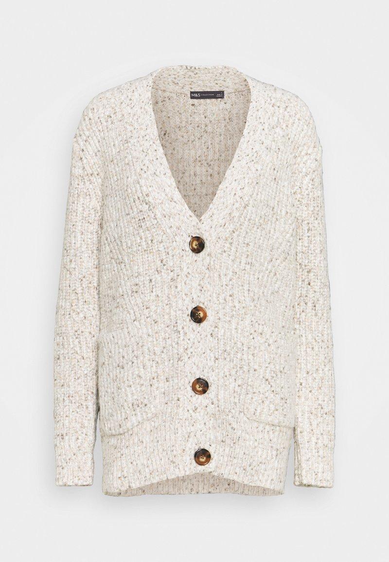 Marks & Spencer London - TWEEDY - Cardigan - beige