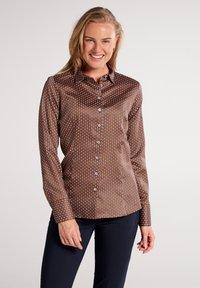 Eterna - MODERN CLASSIC SLIM FIT - Button-down blouse - braun - 0