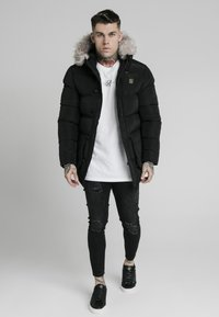 SIKSILK - STOP PUFF - Winter coat - black - 0