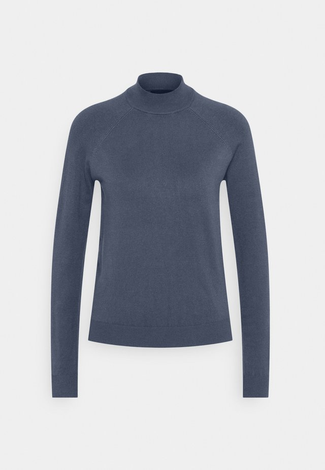 PCESERA HIGH NECK - Sweter - ombre blue
