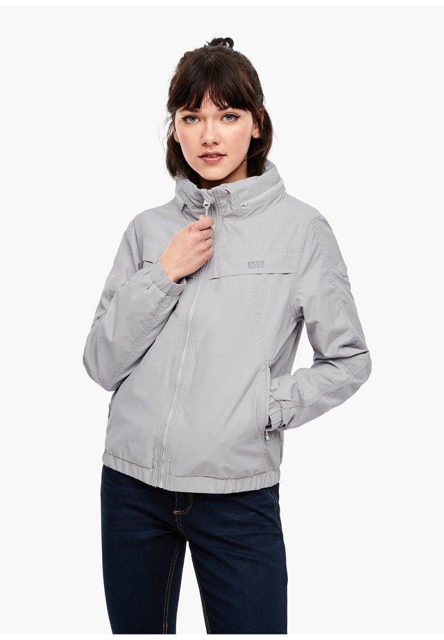 BLOUSON MIT INTEGRIERTER KAPUZE - Training jacket - light grey
