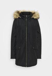 Noisy May Tall - NMOCTAVIA LONG JACKET - Winter coat - black - 4