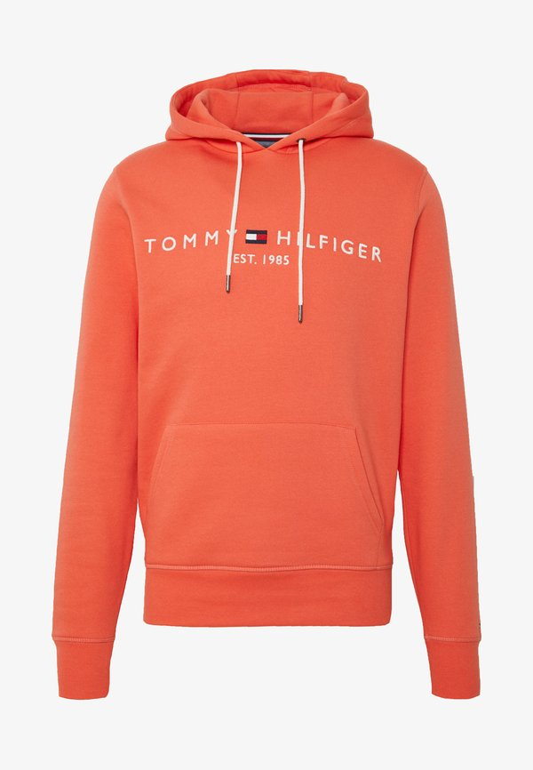 Tommy Hilfiger LOGO HOODY - Bluza z kapturem - orange/pomarańczowy Odzież Męska LLNP