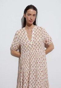 OYSHO - LONG STAMP  - Maxi dress - off-white - 2