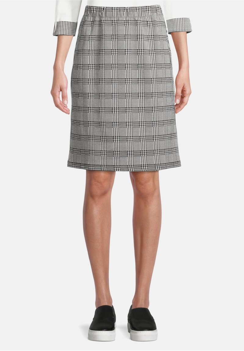 Betty Barclay - SCHMAL GESCHNITTEN - Pencil skirt - schwarz/weiß