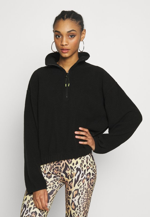 MAJA - Fleece jumper - black
