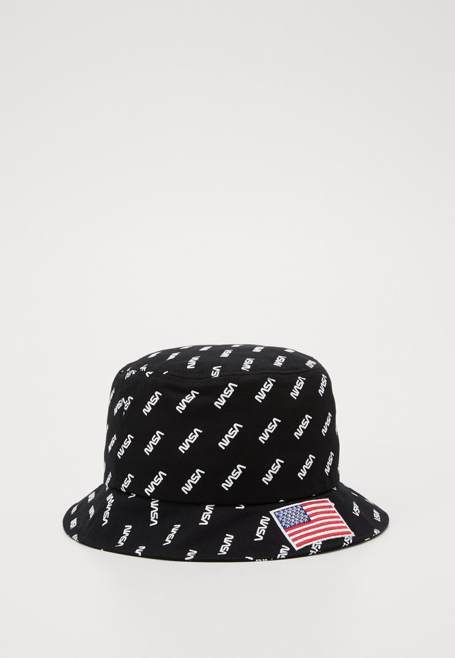 NASA ALLOVER BUCKET HAT - Kapelusz - black