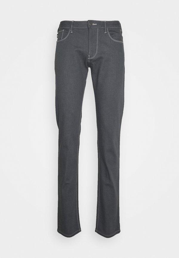 Emporio Armani Jeansy Straight Leg - light grey/jasnoszary Odzież Męska AKKR