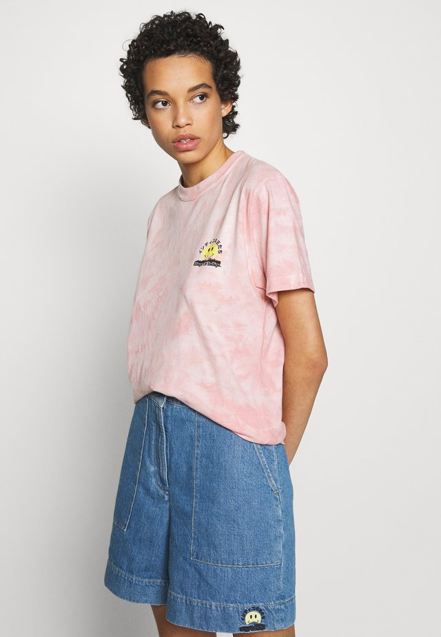 MIRO - T-shirt imprimé - tie dye pink