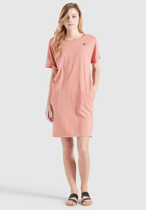 THORIA - Jersey dress - altrosa gewaschen