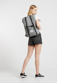 Herschel - RETREAT - Rucksack - raven crosshatch / black rubber - 5