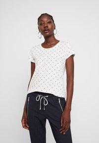 TOM TAILOR DENIM - DOUBLE PACK BASIC TEE - T-shirt z nadrukiem - white/navy - 1