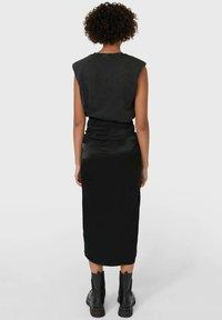 Stradivarius - Pencil skirt - black - 1