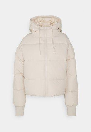 Winter jacket - beige dusty light