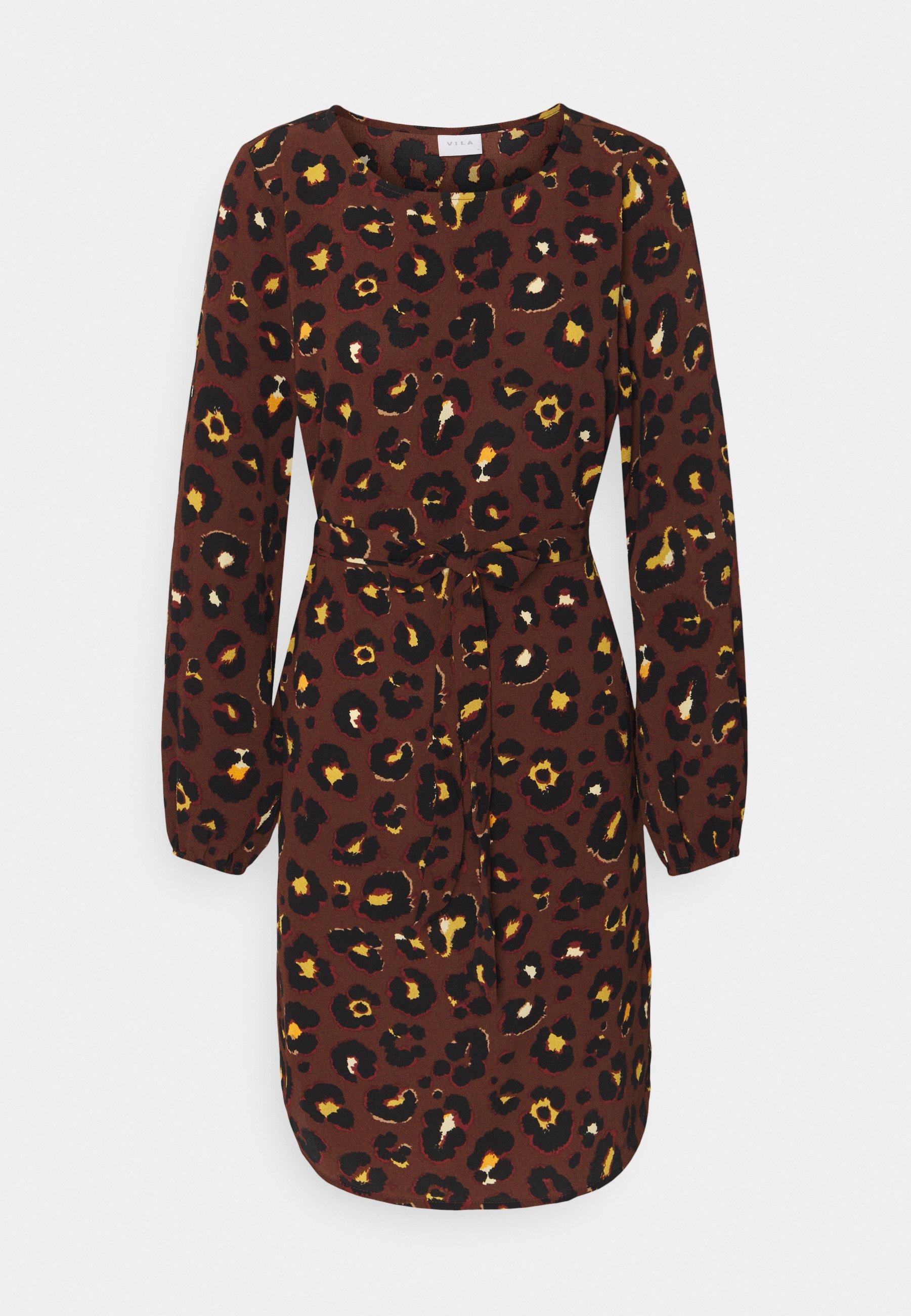 VIDIANA LUCY DRESS   Freizeitkleid   caramel café/leo print