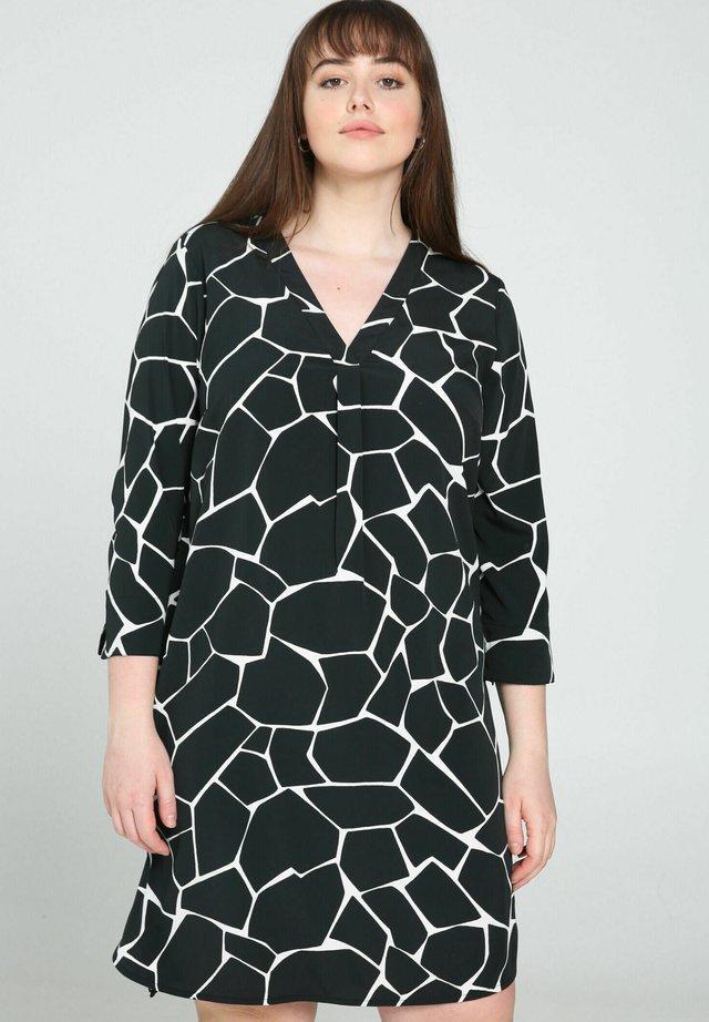 Korte jurk - black / ecru