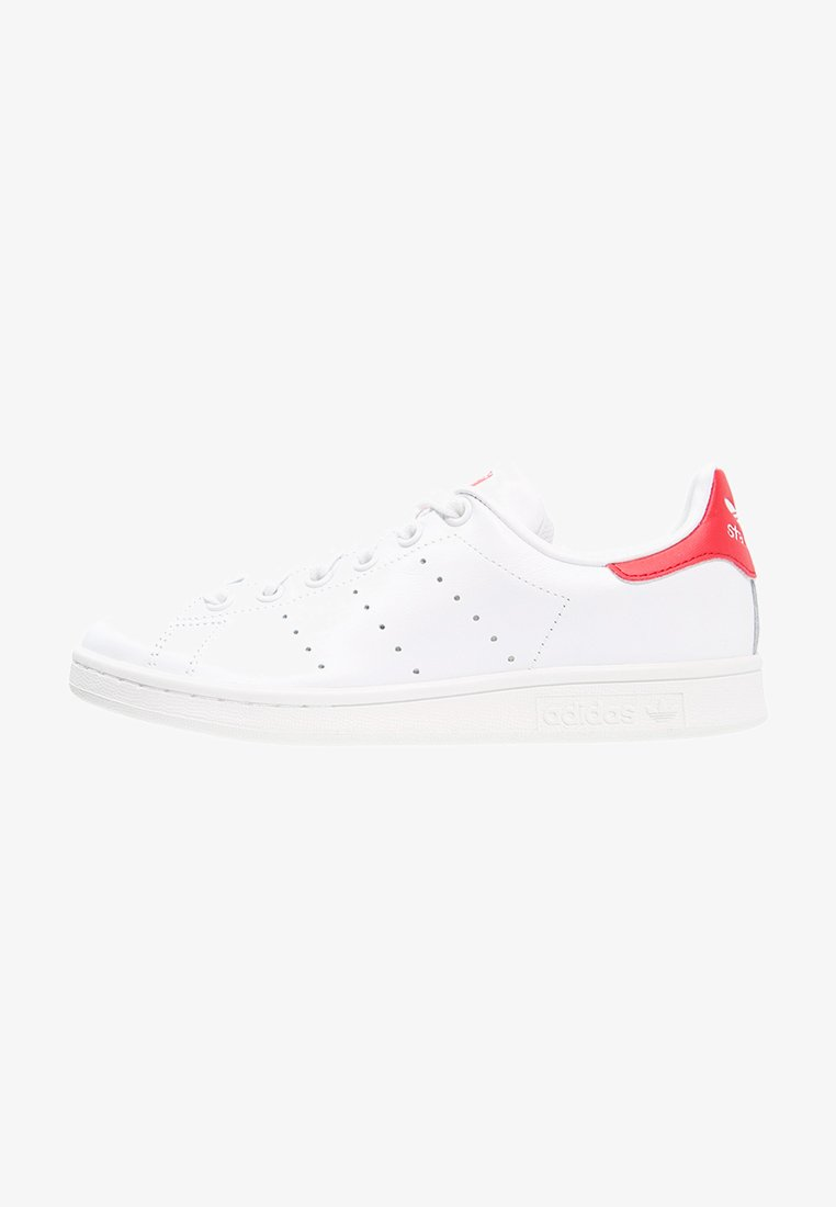 adidas Originals - STAN SMITH - Sneakers - running white/collegiate red