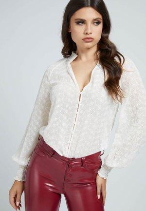 Button-down blouse - creme